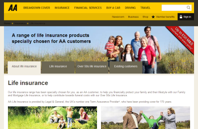 Official AA Life Insurance UK Website