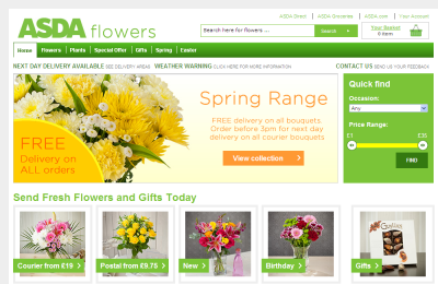 Official Asda Flowers UK Website