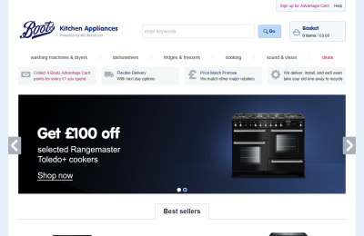 Official Boots Appliances UK Website