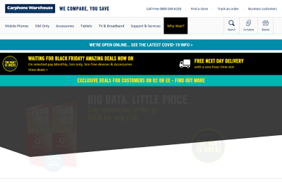 Official Carphone Warehouse UK Website