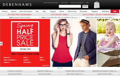 Official Debenhams UK Website
