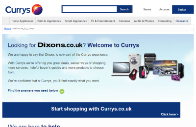 Official Dixons Electricals UK Website