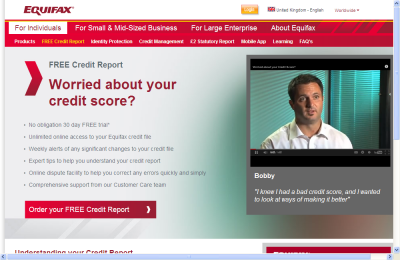 Official Equifax UK Website