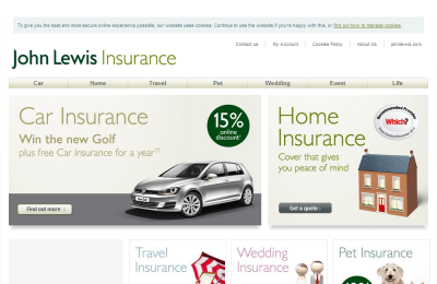 Official John Lewis Car Insurance UK Website