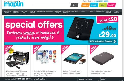 Official Maplin UK Website