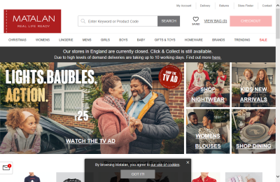 Official Matalan UK Website