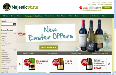 Official Majestic Wine UK Website
