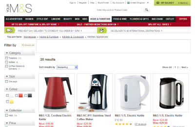 Official M&S Appliances UK Website