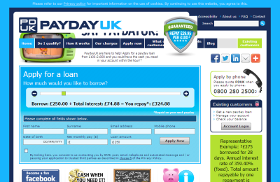 Official Payday Loans UK Website