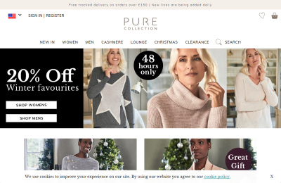 Official Pure Collection UK Website
