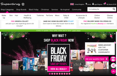 Official Superdrug UK Website