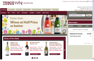 Official Tesco Wine UK Website