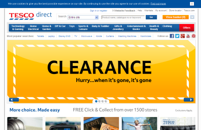 Official Tesco Direct UK Website