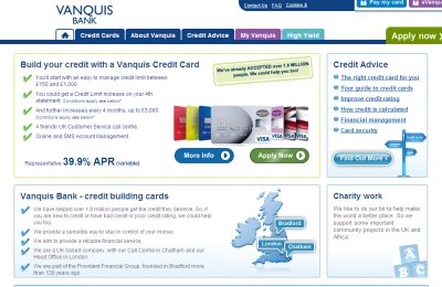 Official Vanquis Bank UK Website