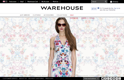 Official Warehouse UK Website