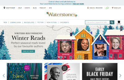 Official Waterstone's Bookstore UK Website