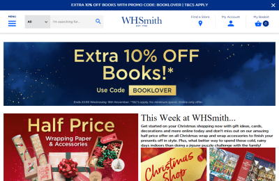 Official WH Smith UK Website