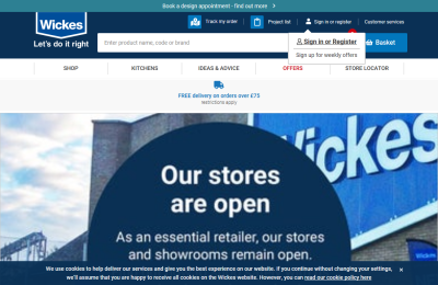Official Wickes DIY UK Website